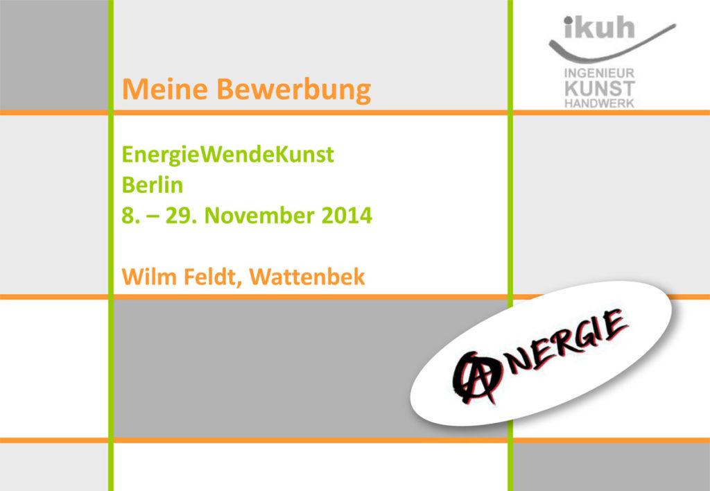 Erstmal Konzepte - Anergie Berlin